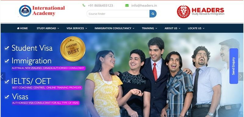 Study Abroad Website Design and Development Company in Kochi